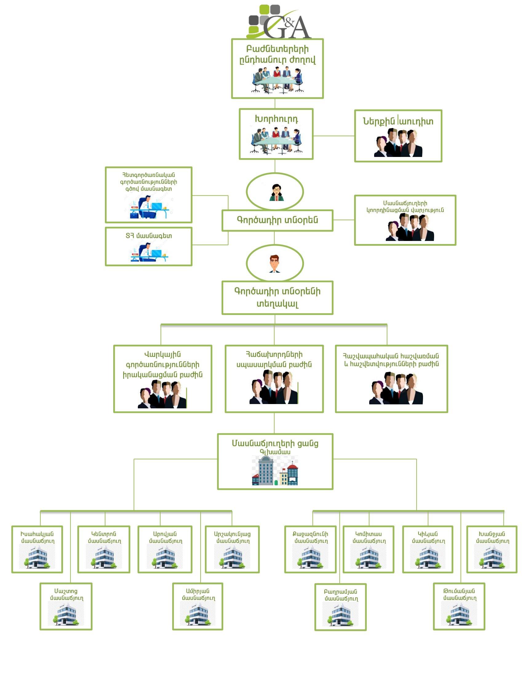 Կազմակերպության կառուցվածքը